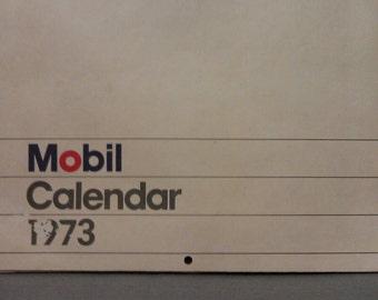 Mobil Oil Calendar 1973