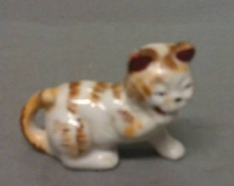M. K. Japan Tan and White Cat Figurine