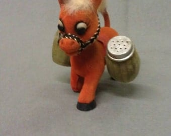 Donkey Burro with Bags as Salt and Pepper Shaker Set