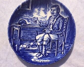 Enoch Wedgwood Small Blue Plate  Huntsman Decorative Wedgwood Huntsman Plate