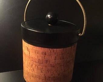 KRAFTWARE Cork & Vinyl Ice Bucket