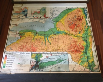 Vintage NYS Roller Map