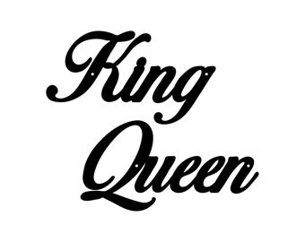 King and Queen Metal Wall Decor Set