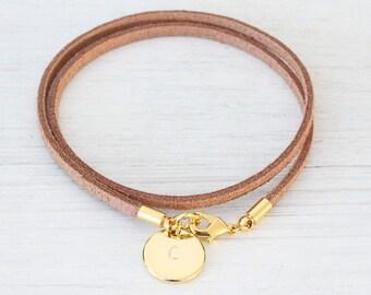 Personalized Bracelet Velvet leather bracelet, Name Gold Bracelet monogram Friendship Bracelet, Engraved bracelet, Valentines day gift