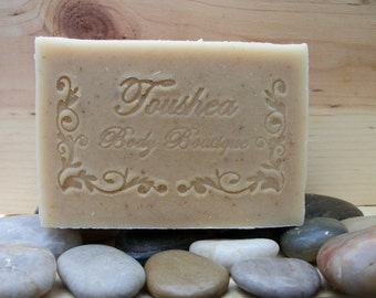 Unscented Handmade Soap w/ Goat Milk, Oatmeal, Honey, & Shea Butter   Unscented G'oatmeal And Honey