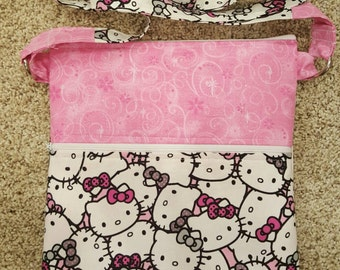 "Handmade ""Hello Kitty"" crossbody purse"