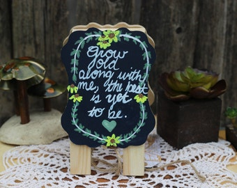Chalkboard mini,Faerie Haven,chalkboard,quote,made with love