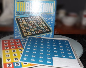 Vintage (c.1981) Tribulation board game published by Whitman | Western Publishing Co.  Made in USA.  100% COMPLETE and UNUSED!