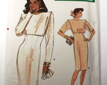 Vogue 7059 Sewing Pattern, Very Easy Very Vogue, Vintage Pattern, 1980s pattern, Out of Print, Misses Dress Size 6-8-10 UNCUT