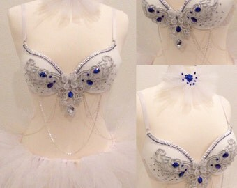 Ice Girl Rave Bra, for winter event NYE outfit EDC outfit