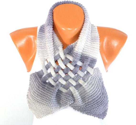 Items similar to Knitted Collar, Knit Neck Warmer, Hand ...