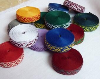 Latvian ribbon Jumis different colors 3 meters / 3.28 yards