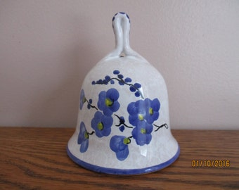 Orvieto Purple Flower Bell Made in Italy