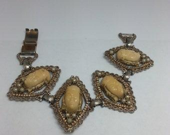 Vintage unsigned SELRO SELINI Asian Princess bracelet