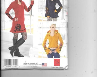 Ladys Hooded Knit Dress, Tunic, Top New Simplicity Sewing Pattern 1251  Sizes 12 Thru 20
