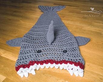 Shark Blanket, Shark Tail Blanket, Blanket for Dad, Father's Day, Adult Shark Tail, Kid Shark Blanket, Crochet Blanket, Boy Birthday Present