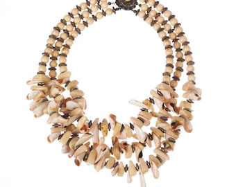Miriam Haskell Shell Bead Necklace