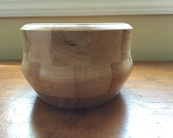 Maple and Dark Walnut Small Segmented Bowl