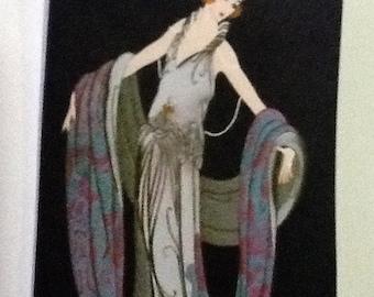 9 Art Deco Lady Tags