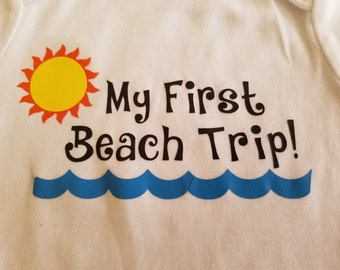 My First Beach Trip--Boy or Girl Onesie