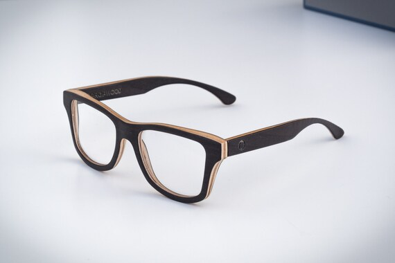 prescription black wooden glasses handmade wood by propwood