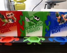 Splatoon Nintendo Amiibo Stand/Wall Display FREE SHIPPING!!