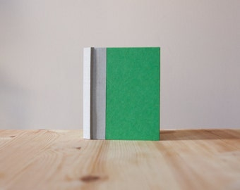 Small Green and Grey Hardcover Notebook | Journal