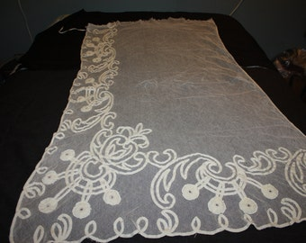 Shabby Lace net panel for inspiration