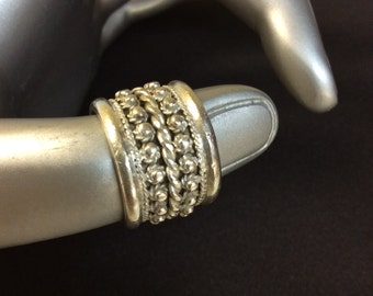 Sterling Silver Chunky Ring Size 5