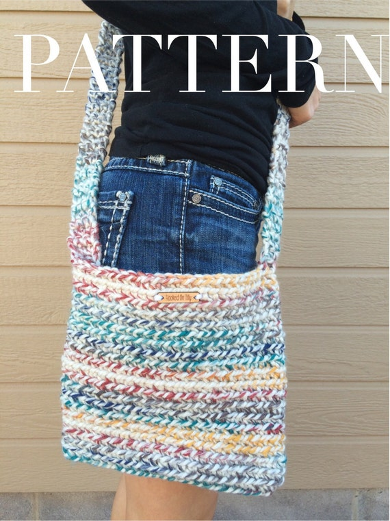 Crochet Crossbody Bag Pattern : / PDF Pattern Crochet Crossbody / Messenger Bag / Hippie / Hippy Bag ...