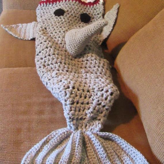 Shark Tale Cocoon Crochet Pattern Free : Crocheted Shark blanket shark blanket shark by ...