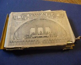 """The """"Passion Play"""" Oberammergau 1910 a set of fifty Cards...missing #1 card"""