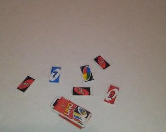 Miniature Uno Card Game