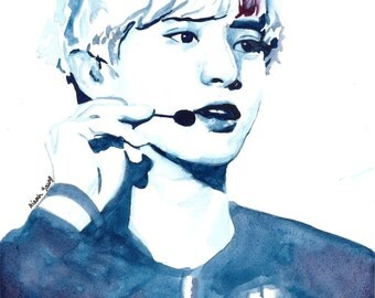 EXO Watercolour Portrait Print: Chanyeol (Park Chanyeol)