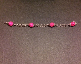 2nd Sunday Collection- Pink Chain Bracelet