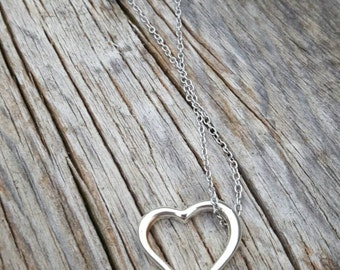 Sterling Silver Heart Charm on Silver Chain
