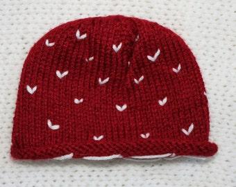 Valentine's Day Newborn Baby Hat