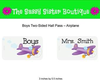 Boys Hall Pass with Airplane