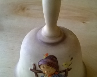 Vintage Hummel Porcelain Bell with Boy, 1982, Handcrafted in West Germany