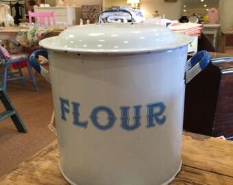 Large Vintage Flour Bin