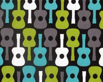 Michael Miller - Groovy Guitar - Lagoon - FQ - FBTY - Kinderpack Groovy Guitars cx2897