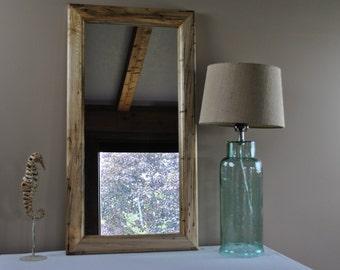 Handmade Hardwood Maple Mirror, Wedding Gift, House Warming Gift, Rustic Decor, Modern Decor
