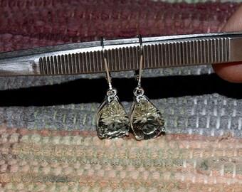 Brazilian Green Amethyst Pear Shape 13 x 9 MM 7.38 TCW Leverback Earrings