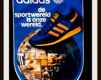 Vintage unused Adidas sticker published by Jac.