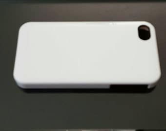 White hard plastic iPhone 4, 4s, 4g phone case