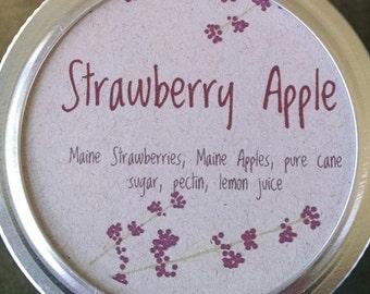 Strawberry Apple Jam, Maine Strawberries, Maine Apples, Maine Made, half pint