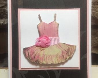 Sparkly Pink Ballerina Card