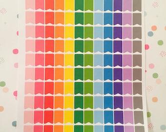 Rainbow mini flags
