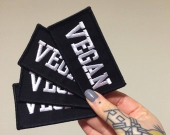 VEGAN Embroidered Patch - Ethical - Vegan