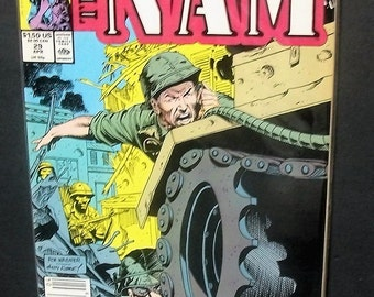 1989 The Nam #29  Vietnam War comic Very Good Unread Condition With Bad Creases Vintage Marvel Comic Book